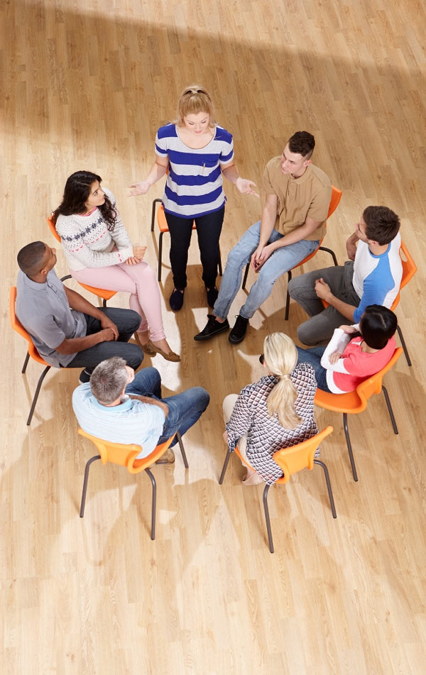 Inpatient Care at Northeastern center with group therapy
