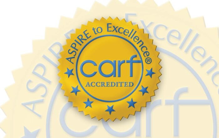 CARF Accredited, Aspire to Excellence